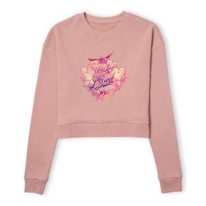 Harry Potter You Are So Loved Women's Cropped Sweatshirt - Dusty Pink