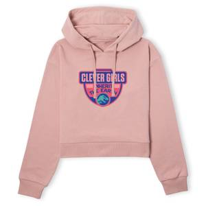 Jurassic Park Clever Girls Inherit The Earth Women's Cropped Hoodie - Dusty Pink