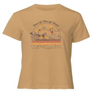 Looney Tunes Surf Women's Cropped T-Shirt - Tan