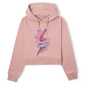 Harry Potter Love Leaves Its Own Mark Women's Cropped Hoodie - Dusty Pink