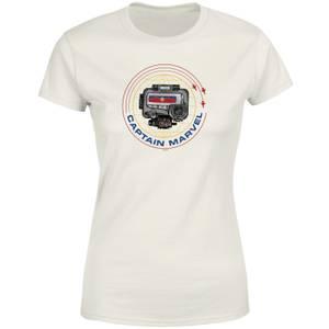 Captain Marvel Pager Women's T-Shirt - Cream