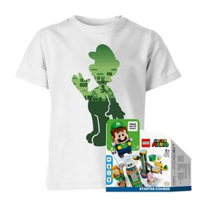 Luigi LEGO Starter Course & Kids' T-Shirt Bundle