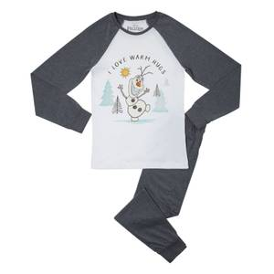 Disney Frozen Warm Hugs Men's Pyjama Set - Grey White