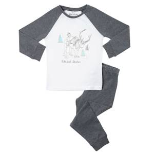 Disney Frozen Wild About Kids' Pyjamas - Grey White