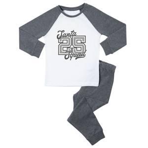 Santa Squad Mono Kids' Pyjamas - Grey White