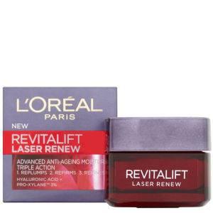 L'Oréal Paris Dermo Expertise Revitalift Laser Renew Advanced Anti-Aging Moisturiser - Triple Action (50ml)