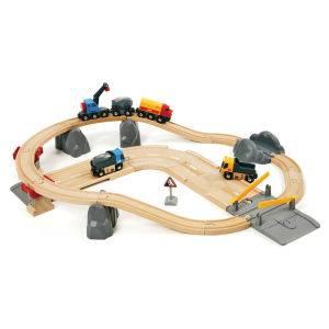 Brio Schienen- und Straßenverlade-Set