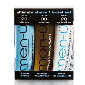 men-ü Ultimate Shave Gesichtspflege-Set (3 x 15ml)