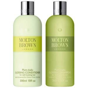 Шампунь и кондиционер для блеска и сияния волос Molton Brown Plum-kadu Glossing Shampoo & Conditioner 300 мл (набор)