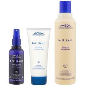 Aveda BrilliantTrio-Shampoo, Conditioner & Spray OnShine