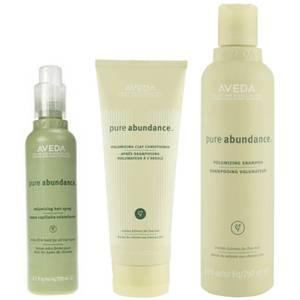 Trío volumen Aveda Pure Abundance - champú, acondicionador y spray