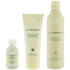 Trío volumen Aveda Pure Abundance - champú, acondicionador y Abundance Hair Potion