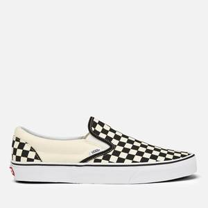Vans Classic Slip-On Trainers - Black/White Checkerboard