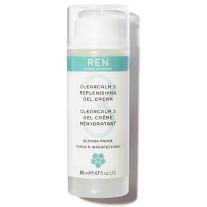 REN Clearcalm 3 Replenishing żel-krem do twarzy