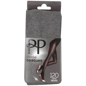 Pretty Polly Women's Modal Opaque Tights - Grey Marl