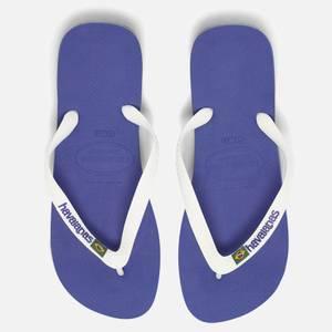 Havaianas Men's Brasil Logo Flip Flops - Marine Blue