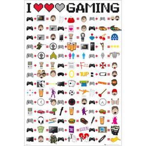 I Love Gaming - Maxi Poster - 61 x 91.5cm