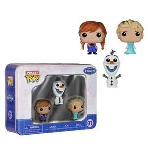 Disney Frozen Pocket Mini Funko Pop! Vinyl 3 Pack Tin