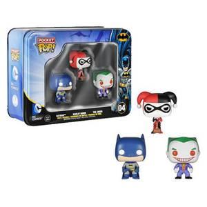 DC Comics Batman Pocket Mini Figura Funko Pop! 3 Pack Tin