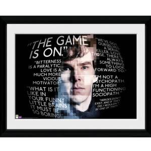 Sherlock Sherlock Quotes - 16x12 Framed Photographic