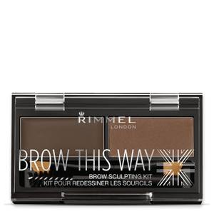 Kit de cejas Brow This Way 003 de Rimmel - Marrón Oscuro