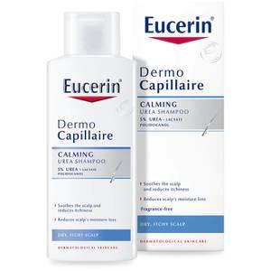 Успокаивающий шампунь для сухой и раздраженной кожи головы Eucerin® DermoCapillaire Calming Urea Shampoo (250 мл)