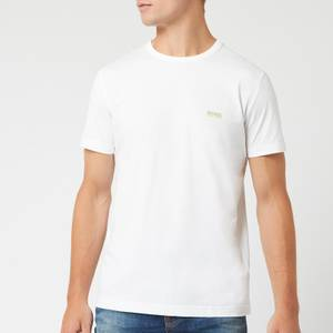 BOSS Men's Basic Crew Shoulder Logo T-Shirt - White
