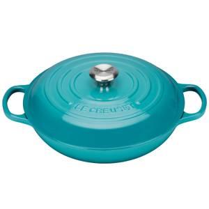 Le Creuset Signature Cast Iron Shallow Casserole Dish - 26cm - Teal