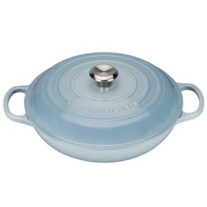 Le Creuset Signature Cast Iron Shallow Casserole Dish - 26cm - Coastal Blue