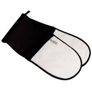 Le Creuset Textiles Double Oven Gloves - Satin Black