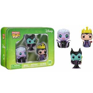Disney Baddies Pocket Mini Funko Pop! Vinyl 3 Pack Tin