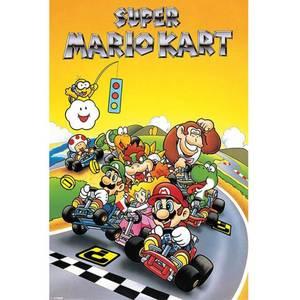 Nintendo Super Mario Kart Retro Comic - 24 x 36 Inches Maxi Poster