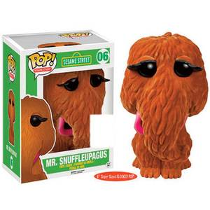 Sesame Street Mr Snuffleupagus Flocked SDCC Exclusive 6 Inch Pop! Vinyl Figure