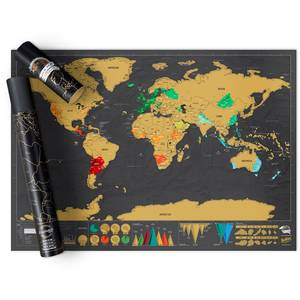 Weltkarte zum Rubbeln - Deluxe Reise Edition