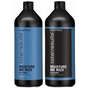 Matrix Total Results Moisture Me Rich Shampoo and Conditioner (1000ml)