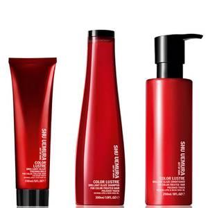 Shu Uemura Art of Hair Color Lustre Sulfate Free Shampoo (300ml), Conditioner (250ml) and Thermo-Milk (150ml)