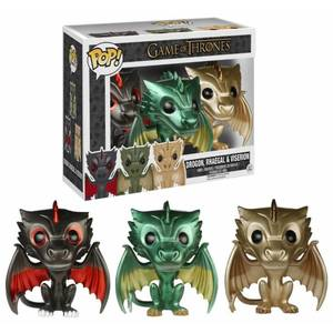 Game of Thrones Limited Edition Metallic Dragon Funko Pop! 3-pack