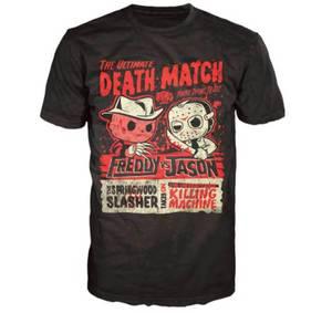 Freddy Vs Jason Deathmatch Poster Funko Pop! T-Shirt - Black