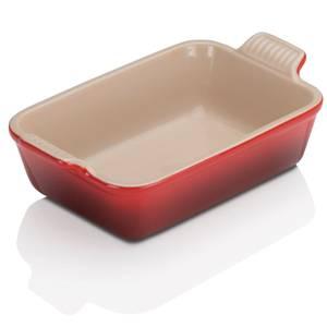 Le Creuset Stoneware Small Heritage Rectangular Roasting Dish - 19cm - Cerise