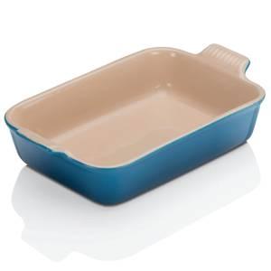 Le Creuset Stoneware Medium Heritage Rectangular Roasting Dish - 26cm - Marseille Blue