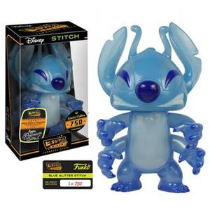 Disney Lilo and Stitch Blue Glitter Stitch Hikari Sofubi Vinyl Figure