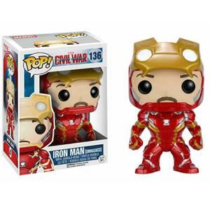 Marvel Civil War Iron Man Unmasked Pop! Vinyl Figura