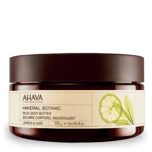 AHAVA Mineral Botanic Rich Body Butter - Lemon and Sage 235g