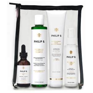 Philip B Four Step Hair and Scalp Facial Treatment Set (Worth $127)