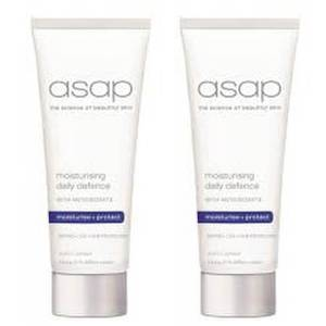 2x asap moisturising daily defence SPF50+ 100ml