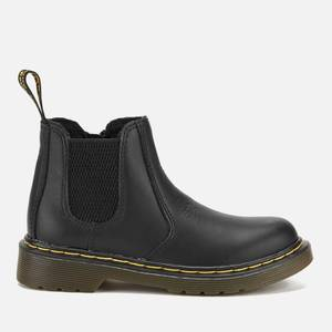 Dr. Martens Kids' 2976 J Softy T Leather Chelsea Boots - Black