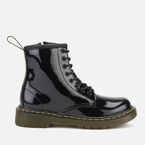 Dr. Martens Kids' 1460 J Patent Limper Lace Up Boots - Black