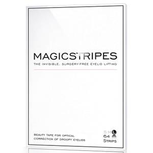 Силиконовые полоски для поднятия верхнего века, размер L (широкие), 64 шт.— MAGICSTRIPES 64 Eyelid Lifting Stripes — Large