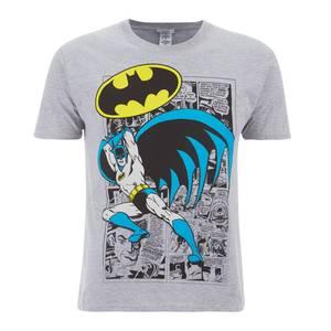 DC Comics Men's Batman Comic Strip T-Shirt - Grey