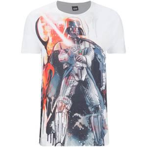 Star Wars Men's Vader Stencil T-Shirt - White